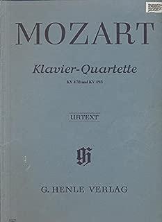 KLAVIER-QUARTETTE KV 478 & KV 493: FÜR KLAVIER, VIOLINE, VIOLA UND VIOLONCELLO