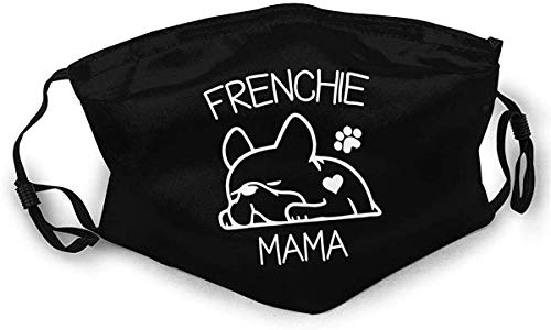 Cloth Face Mask Washable Frenchie Mama Anti Filter Dust Fabric Mouth Mask Cute Reusable Custom