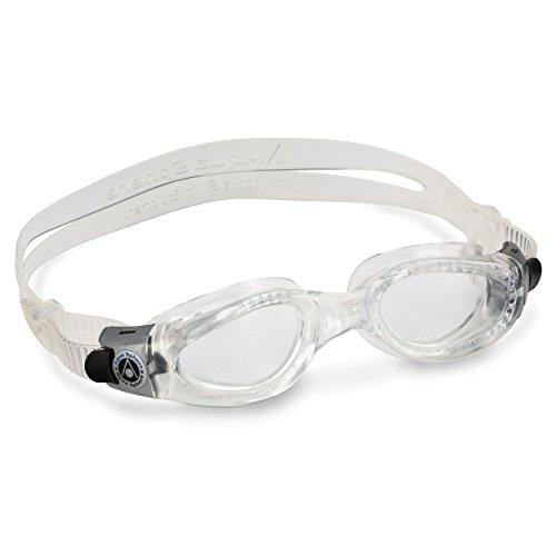 Aqua Sphere Kaiman Compact Fit Schwimmbrille, transparent/transparentes Glas, Einheitsgröße