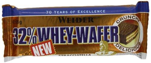 Weider 32% Whey Wafer, Stracciatella - Barretta da 35G