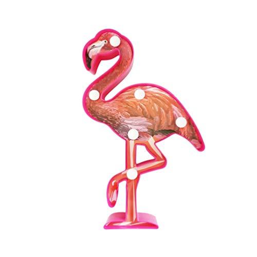OSALADI LED Neon Light 3D Flamingo Light Plástico Letreiro Letreiro Luz Noturna Ornamento Flamingo para Festa de Aniversário de Natal, Sala de Estar, Quarto de Crianças Sem Bateria (Colorida)