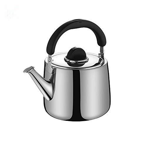 Stronrive Edelstahl Flötenkessel 2L Teekessel mit Flöte Camping Wasserkessel Induktion Gasherd Wasserkocher mit mit Griff für Induktionsherde Gasherde