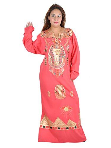 Kleopatra Pharao Kostüm, Fasching Fastnacht Karneval Kleider aus dem Orient Ägypterin. Farbe: Rose (40-42 (M))