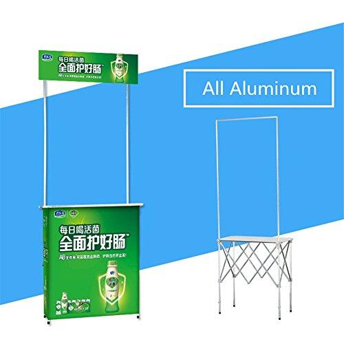 MoCa - MoCa plegable para mostrador de mesa de demostración y exhibición de quiosco de feria comercial marco de aluminio con bolsa de transporte