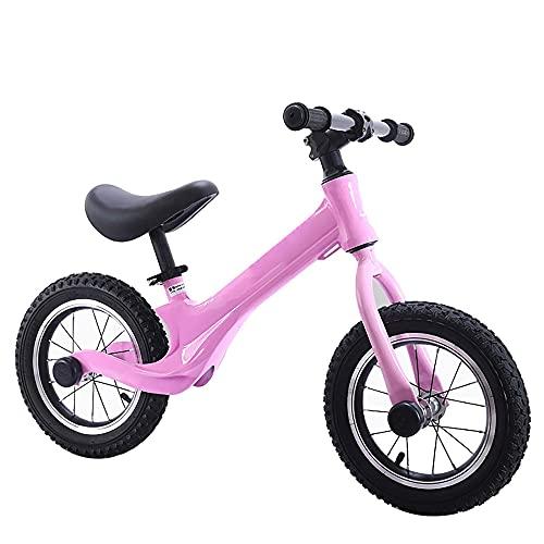 LRBBH Bicicleta de Equilibrio de 12 Pulgadas para NiñOs de 2 a 6 añOs. Bicicleta sin Pedales Entrenamiento/Pink / 12inch
