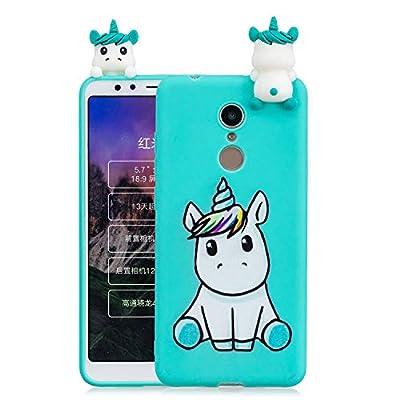 HopMore Funda para Xiaomi Redmi 5 Plus Silicona Motivo 3D Divertidas Unicornio Panda Bonita TPU Gel Ultrafina Slim Case Antigolpes Cover Protección Carcasa Dibujo Gracioso - Unicornio