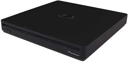 Pioneer Electronics BDR-XS07UHD 6x Slot Loading Portable USB 3.1 Gen1 BD/DVD/CD Burner Supports Blu-Ray, BDXL & M-Disc Format, Black