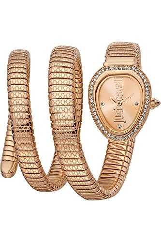 Reloj Just Cavalli Glam Chic Snake JC1L163M0035 - Analógico Cuarzo para Mujer en Acero Inoxidable Chapado