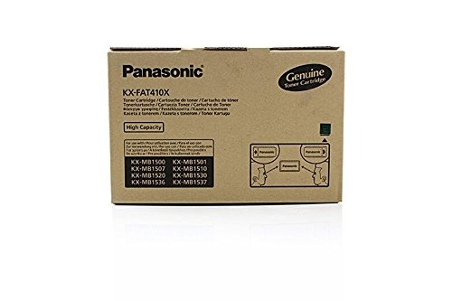 Panasonic KX-FAT410X - Cartucho de tinta original para impresora KX-MB 1500 (2500 páginas), color negro