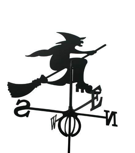 Svenska Wetterfahne Windfahne Windspiel Hexe schwarz aus Stahl groß Höhe 85 cm