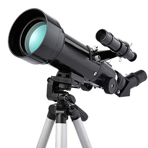 Telescopio, Refracción Astronómica Lente Óptica Vidrio con Revestimiento Completo 70MM HD, Trípo Portátil Almacenamiento Viaje al Aire Libre Principiantes Adultos y Niños Principiantes Amateur
