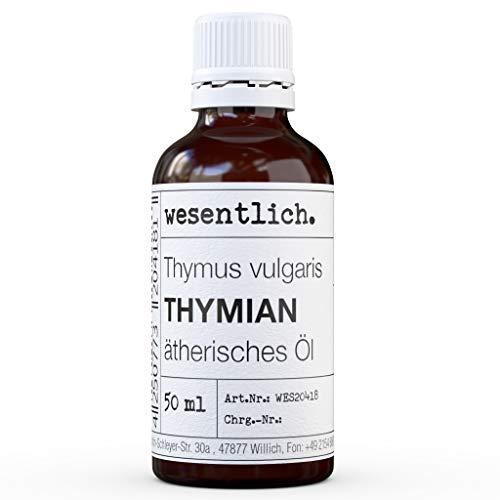 ThymianÖl - reines ätherisches Öl von wesentlich. - 100% naturrein aus der Glasflasche (50ml)
