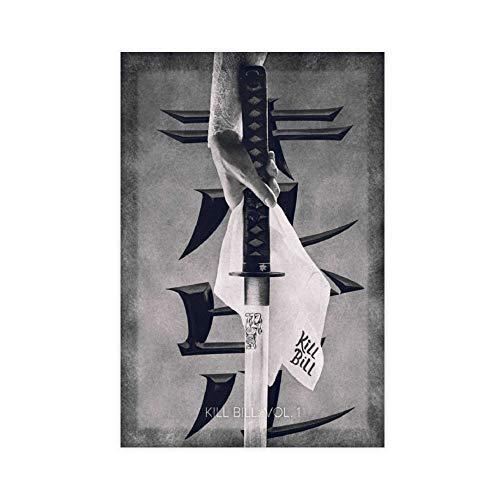 Poster de film Kill Bill Vol 1 - Impression sur toile - Décoration murale pour salon, chambre à coucher - 30 × 45 cm - Sans cadre - Style 1