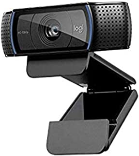 Logitech, C920 HD Pro Webcam for AMZ, Full HD 1080p Video Calling and Recording, Dual Stereo Audio, Stream Gaming, Two Mic...