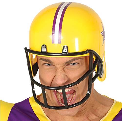 Fiestas Guirca Football-Helm für Erwachsene Sport-Kostümaccessoire gelb-lila