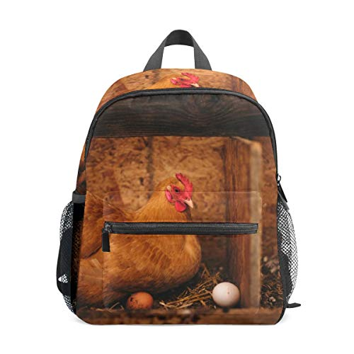 School Backpack for Kid Girls & Boys,Travel Children Bag Student Bookbag Casual Daypack Gift Hen Vintage