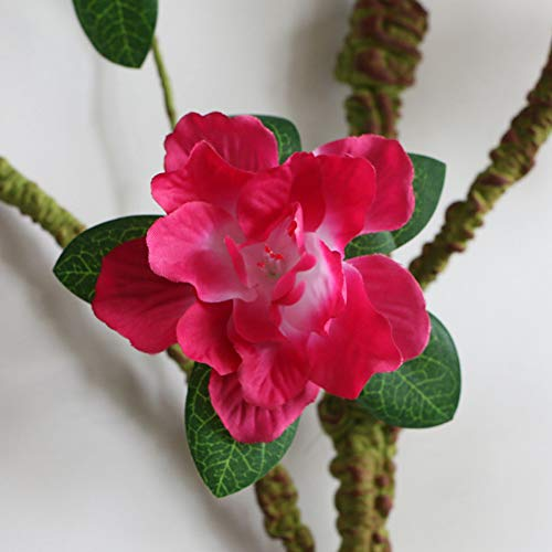 HYLZW Kunstmatige Bloem Plant Thuis Zachte Pack Tien Azalea Simulatie Zijde Nep Bloem Gardenia Bloem Schuim Bloem Tak Decoratie Klassiek Zacht