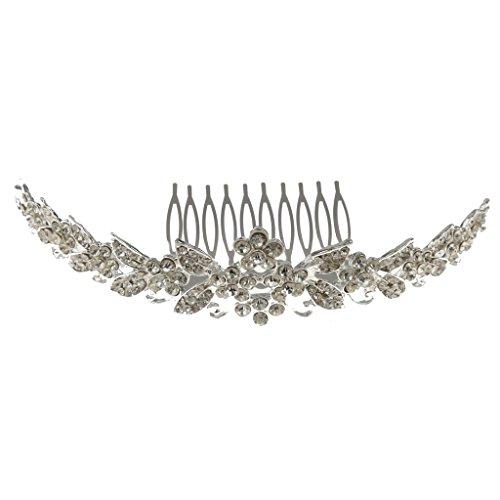 Peigne de Mariée Élégant Strass Bandeau Accessoire de Cheveux pour Bal Mariage