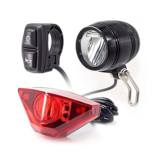 Stlei Store Linterna y Luces traseras Entradas 24V 36V 48V 64V 72V E-Bike Lámpara LED Luz de Bicicleta eléctrica y Luces traseras (Color : ERFS1302)