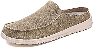 Liilncgannjx Mens Work Shoes, Men's Canvas Oxford Shoes Breathable Loafers Comfortable Outdoor Hiking Slippers Lightweight...