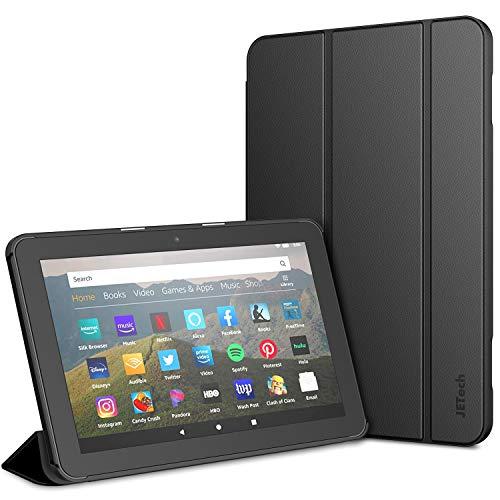 JETech Funda Compatible con Tableta El Todos Nuevo Amazon Fire HD 8 y Fire HD 8 Plus (10a Generación, versión 2020), Cubierta Elegante con Auto-Sueño/Estela, Negro