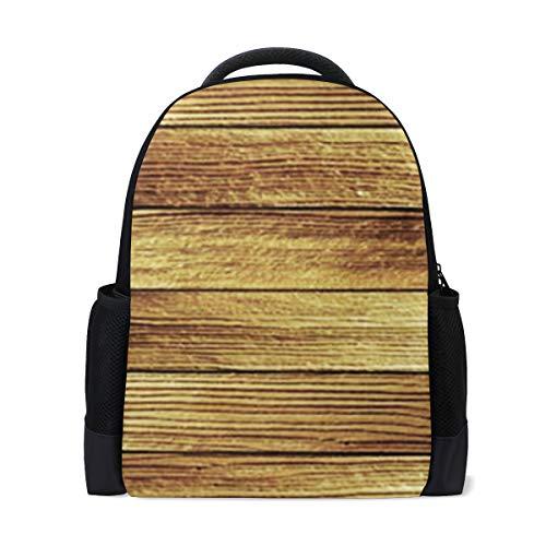 FAJRO, zaino da viaggio con stampa di assi di legno, stile vintage