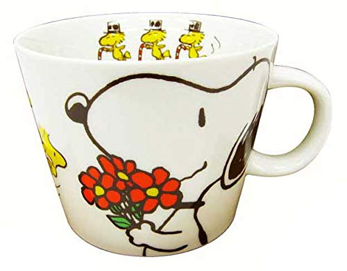 Made in Japan Snoopy Peanuts Character Large Size Mug Cup Thanks