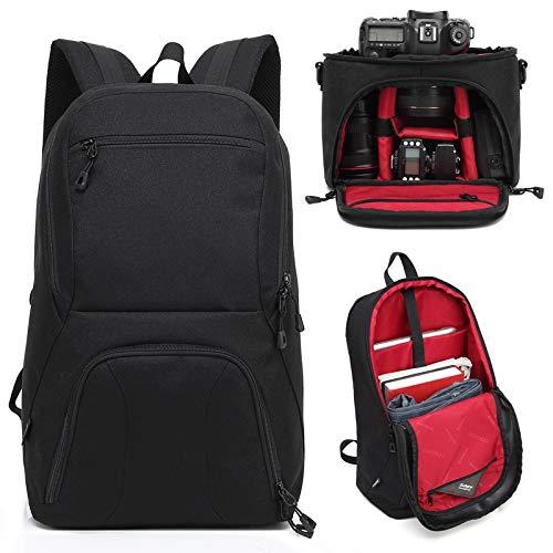 Fotorugzak en cameratas TOTOTO 01 rood multitas schokbestendig SLR DSLR school videomaker fotografie reflex professionele notebook laptop lenzen