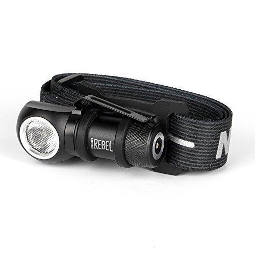 NEBO Rebel Linterna frontal LED recargable y luz de trabajo - Potente,...