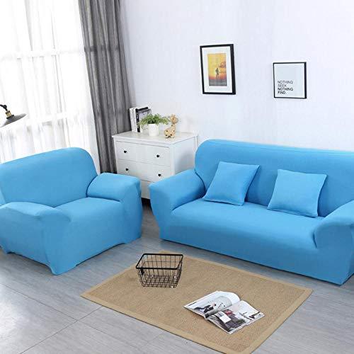 ANDD Solid Color Corner Sofa Cover Sofa Überwürfe Sofabezug Elastische Stretch Für L-Form Sofa Abdeckung .Blue.2-Seat 145-185Cm
