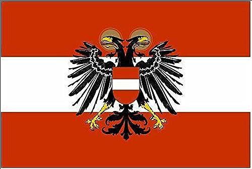 U24Drapeau du Autriche 1934–38haute qualité pour bateau drapeau 120x 180cm