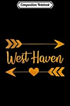 Composition Notebook: WEST HAVEN CT CONNECTICUT Funny City Home USA Women Gift  Journal/Notebook Blank Lined Ruled 6x9 100 Pages