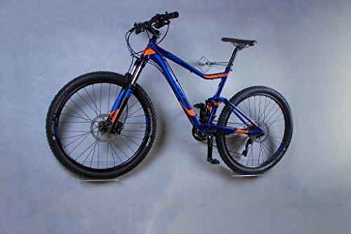 Soporte de pared para bicicleta trelixx en acrílico transparente (acabado láser) para bicicleta de montaña/de carreras, soporte de diseño para bicicleta con montaje en la pared