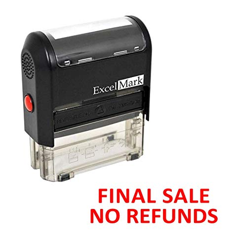 Final Sale NO REFUNDS - ExcelMark Self-Inking Rubber Stamp - A1539 Red Ink