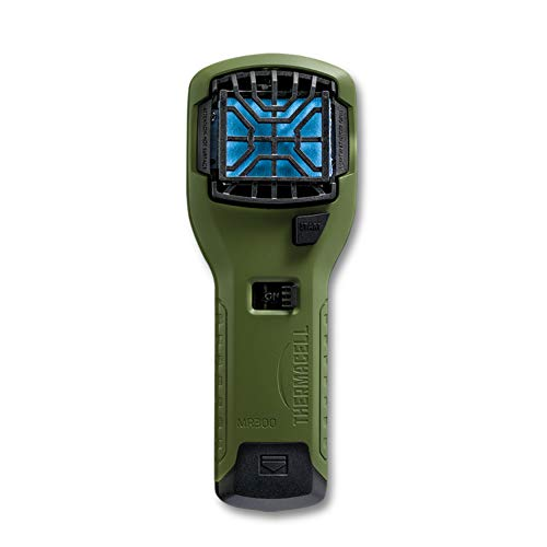 Thermacell MR300 Portable Mosquito Repeller, Olive Green; Contains Fuel Cartridge, 3 Mosquito Repellent Mats; 15-ft Zone of Protection, 12 Hours of Mosquito-Free Relief Included; DEET-Free, No Spray