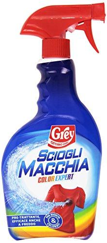 Grey - Sciogli Macchia, Pre-trattante, efficace anche a freddo - 500 ml - [confezione da 8]