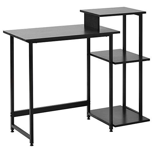 """Joycelzen Escritorio de Computadora, 32"""" Mesa de Ordenador Mesa de Trabajo con Estructura de Metal para Casa, Oficina, Salón, 100 x 40 x 85.5cm, Negro"""