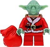 LEGO Star Wars - Figura decorativa de Jedi Maestro Yoda (Papá Noel, Papá Noel, Papá Noel, Yoda)