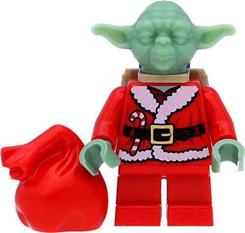 LEGO Star Wars Minifigur Jedi Meister Yoda (als Weihnachtsmann, Santa Yoda) mit viel Zubehör