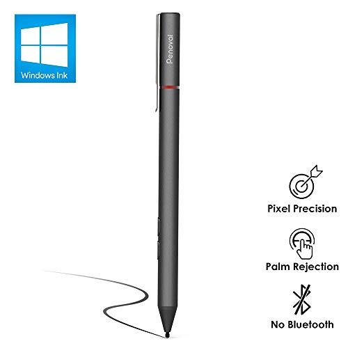 Penoval Pen für Surface, Stylus Stift Microsoft-Zertifiziert mit Palm Rejection & 4096 Druckempfindlichkeit, 600h Arbeitszeit für Surface Pro 3/4/5/6/Go/Laptop/Studio/Book