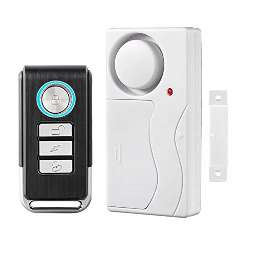 HENDUN Wireless Remote Door Alarm, Windows Open Alarms,Magnetic Security Sensor, Pool Door Alarm for Kids Safety, Alzheimer's Exit Monitor,Apartment Alarm (1 Pack)