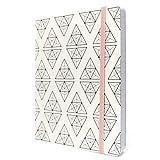 Tabitha Wilde A5 Notizbuch liniertes Papier mit Tasche 240 Seite Softcover Journal (Weiß)