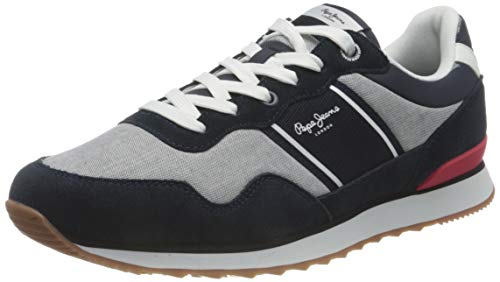 Pepe Jeans Cross 4 Sailor, Zapatillas Hombre, 564 Chambray, 44 EU