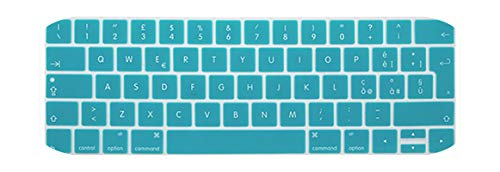 EU Italian version For 2019 Macbook pro13 A2159 15pro keyboard cover Color keyboard cover For touch bar A1706 A1707 A1989 A1990-Lake blue