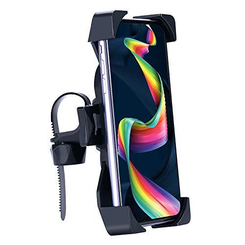 Bligo Fahrrad Handyhalterung, Universal Motorrad Lenker Handy Halterung, Einer Handbedienung Anti-Shake Bike Halterung für 4,0-6,5 Zoll Smartphone mit 360° Drehbar