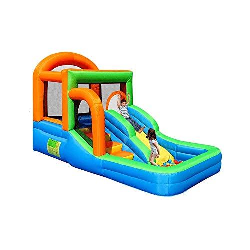 Wghz Castillos hinchables Piscina de Juguete Inflable para bebés Castillo Inflable Parque de Atracciones pequeño Interior para niños Trampolín Tobogán Juguetes inflables para niños (Color)