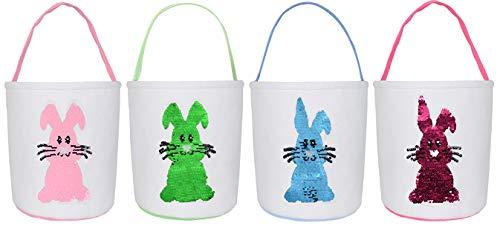 KEFAN 4 Confezioni di cestini pasquali in Tela di...