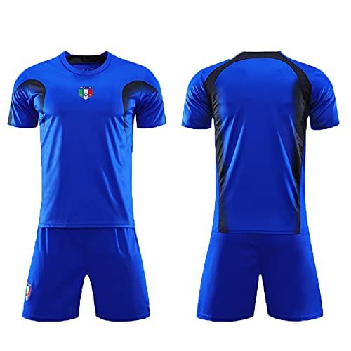 2006 Italia Jersey T-shirt Retro Jersey Fan Commemorative Edition, set di maglie della Coppa d'Europa, maglia vintage ricamata (M)