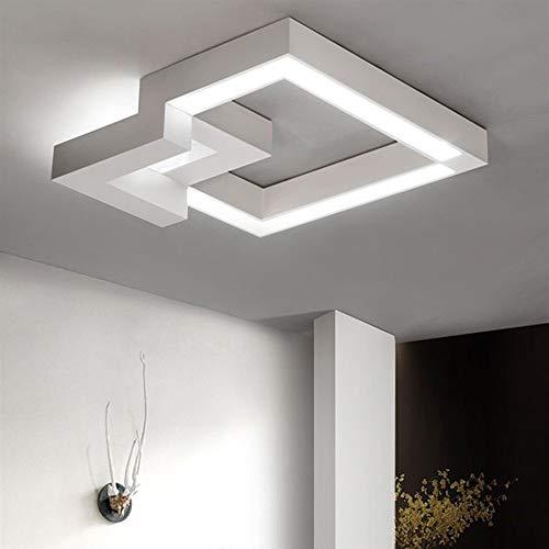 Dimbare led-plafondlamp, afstandsbediening, kleurverandering, traploos dimbaar, warmwit/neutraalwit/koudwit, plafondlamp, geometrisch design, gang badkamer, plafondlamp