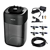 REPTI ZOO 10L Reptile Mister Fogger Terrariums Humidifier Extremly High Pressure Silent Pump Fog Machine Misting Rainforest Sprayer System Tank with 4PCS Nozzles for a Variety of Reptiles/Amphibians